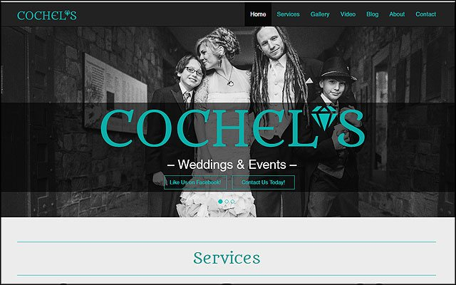 Preview of Cochel's website project.
