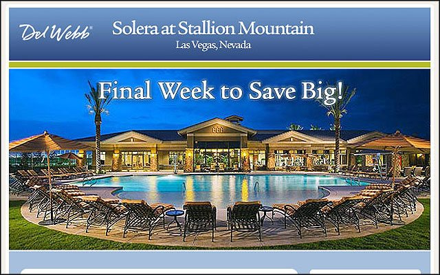 Preview of Del Webb email campaign project.